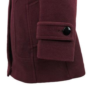 Cole Haan Jackets & Coats - Cole Haan Dark Maroon Toggle Wool Pea Coat 12